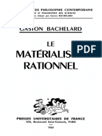 BACHELARD, Gaston. Le Matérialisme Rationnel