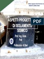 ASPETTI PROGETTUALI DI ISOLAMENTO SISMICO