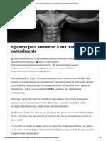 6 Passos Para Aumentar a Sua Testosterona Naturalmente – Novo Homem