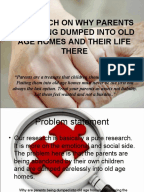 Project report format for old age home