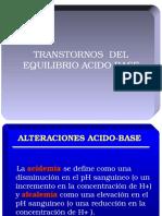Transtornos Eq. Acido Base