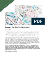 Prepare for the Next Recession