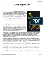 What to Play on Your Wagner Tuba