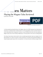 Playing the Wagner Tuba Reviewed