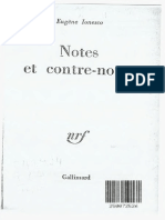 Ionesco - La Cantatrice Chauve - Notes Et Contre-notes