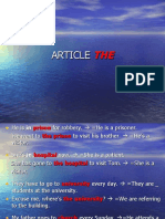 Definite article ´the´ - Some uses