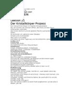 L21 Der Kristallkörper-Prozess