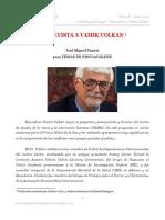 ENTREVISTA A VAMIK VOLKAN  José Miguel Sunyer