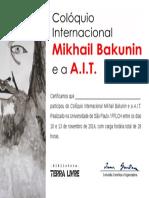 Certificado Participacao COLOQUIO BAKUNIN