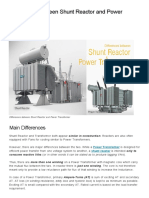 Differences Between Shunt Reactor and Power Transformer _ EEP