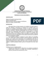 Programa de Sociología UCV