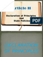 Article 2 Declaration of Principles and State Policies
