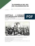 Conquista Española Del Rio de La Plata Colonizacion en America