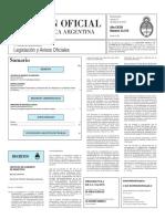 Boletín Oficial de la República Argentina, Número 33.315. 12 de febrero de 2016