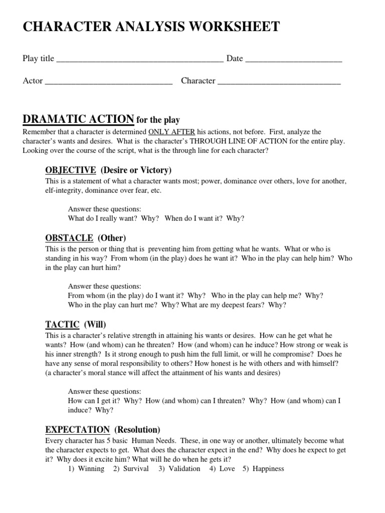 Character-analysis-worksheet & Character Worksheets.Describing ...