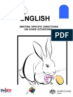 English 6 DLP 15 Writing Specific Direction on Given Situation