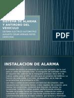 Sistema de Alarma y Antirobo Del Vehiculo