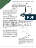 Wireless Data Monitoring Using ZigBee and GPRS