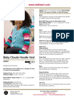 KNIT - Baby Clouds Hoodie Vest [22,5-25,5'' Chest]