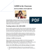 add-adhd in the classroom