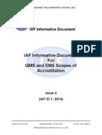 Iaf Id 1 Qms Ems Codes 20140610