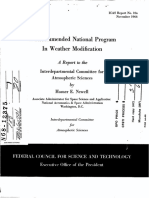 A Recommended National Program in Weather Modification