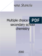 Multiple Choice Test for Secondary School Chemistry 2010