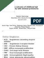 Long-term Outcome of Childhood IgA Nephropathy With Minimal