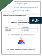 A Project Report stick market