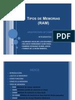 Tipos de Memorias (RAM)