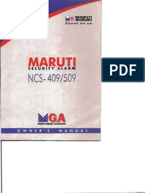 Maruti Security Alarm Manual   Security Engineering   Components on