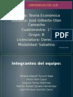 Exposición Teoría Económica