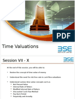 Time Valuations 7
