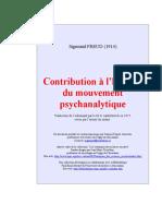 Freud-Contribution à l'histoire du mouvement psychanalytique