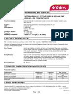 Buffalo Pro Selective Bindii Broadleaf Weed Killer Concentrate-Aus Sds