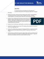 Recruitment and Selection Manual and Policy