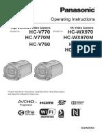 Panasonic Camcorders Manual