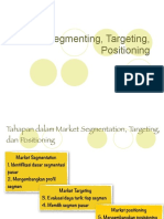 Segmenting, Targeting, Positioning