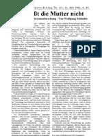 2001-05-21 FAZ - Wolfgang Schäubles Gen-Forschung
