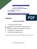 3.3 Métodos y Filosofías Del Control Estadístico de Proceso