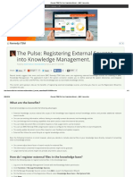 [Remedy ITSM] the Pulse_ Registering External ..