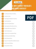 Boost Blog Social Shares Checklist