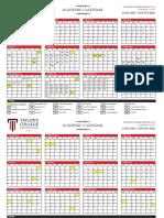 Academic Calendar - January 2016 Intake