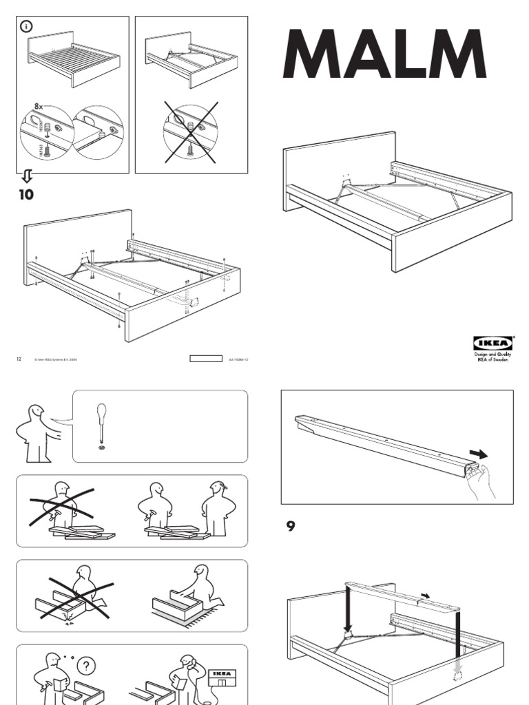 ikea malm bed assembly instructions (queen)