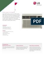 LG LW8012ER Air Conditioner Spec Sheet