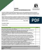 University of Melbourne SVP Checklist
