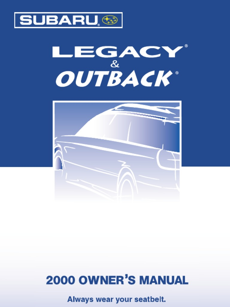Subaru Legacy: New vehicle break-in driving – the first 1,000 miles (1,600 km)