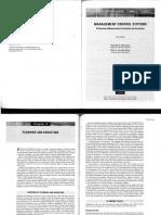Merchant, K ; Van Der Stede, W. Management Control Systems. Cap. 8
