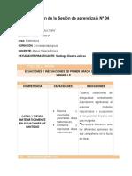 Planificación de La Sesión de Aprendizaje Nº 04 PEDRO RUIZ GALLO