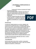 Informe de Laboratorio Organica